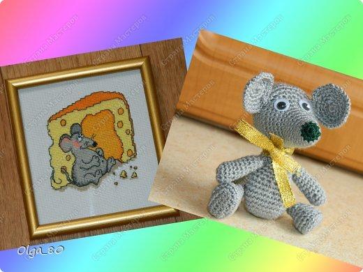 Делала подарок по летней Игре-сюрпризу для замечательной мастерицы Юли (Крысена лапчатая). Разве я могла обойтись без мышей?! Юля подарок получила, значит я могу его показать всем фото 1