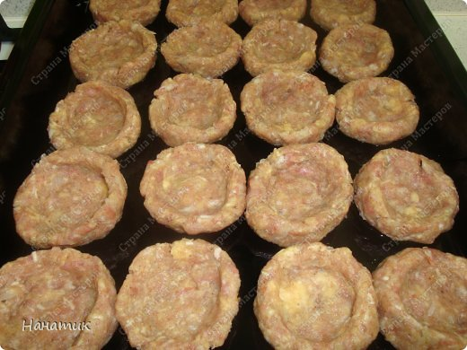 Кулинария Мастер-класс Рецепт кулинарный Гнезда из фарша с сочной начинкой Продукты пищевые фото 5
