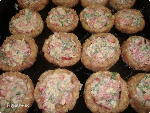 Кулинария Мастер-класс Рецепт кулинарный Гнезда из фарша с сочной начинкой Продукты пищевые фото 8