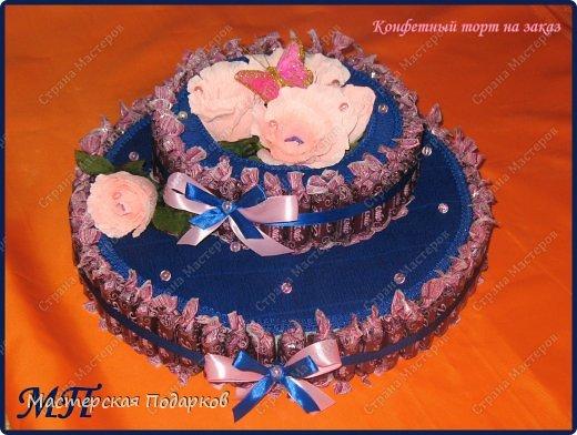 Добрый день всем, кто заглянул в гости! Хвалюсь своим новеньким и большим конфетным тортиком. фото 1