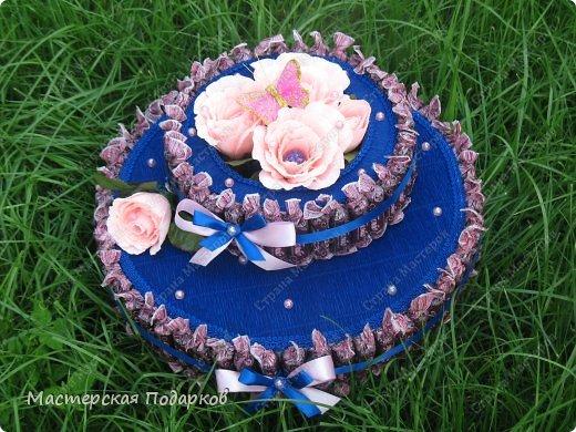 Добрый день всем, кто заглянул в гости! Хвалюсь своим новеньким и большим конфетным тортиком. фото 2