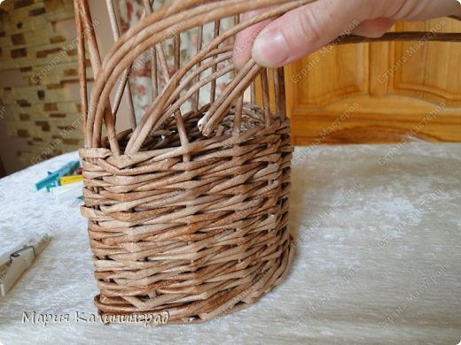 Мастер-класс Поделка изделие Плетение Итальянская коса мк Кружево Трубочки бумажные фото 9