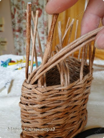 Мастер-класс Поделка изделие Плетение Итальянская коса мк Кружево Трубочки бумажные фото 11