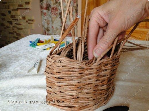 Мастер-класс Поделка изделие Плетение Итальянская коса мк Кружево Трубочки бумажные фото 12