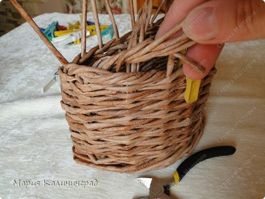 Мастер-класс Поделка изделие Плетение Итальянская коса мк Кружево Трубочки бумажные фото 14