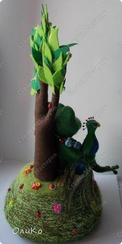 Поделка изделие Валяние фильцевание Денежное дерево Фетр Шерсть фото 7