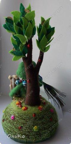 Поделка изделие Валяние фильцевание Денежное дерево Фетр Шерсть фото 2