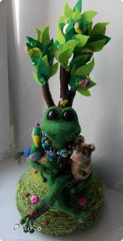 Поделка изделие Валяние фильцевание Денежное дерево Фетр Шерсть фото 1