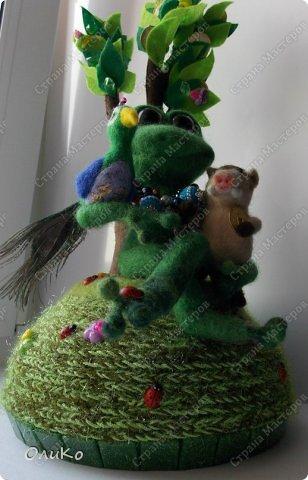 Поделка изделие Валяние фильцевание Денежное дерево Фетр Шерсть фото 8