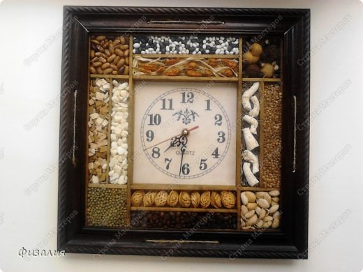 Декор часов для кухни