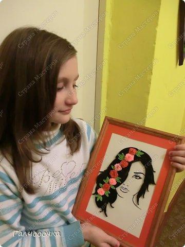 Еще одна моя ученица. Бычихина Анастасия. подарок маме на восьмое марта. фото 6