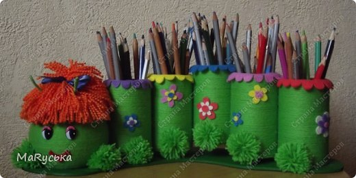 Сделать своими руками подставку для карандашей