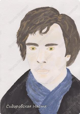 """Сегодня мне захотелось нарисовать фан-арт по """"Шерлоку"""". Как получилось - судить вам)"""