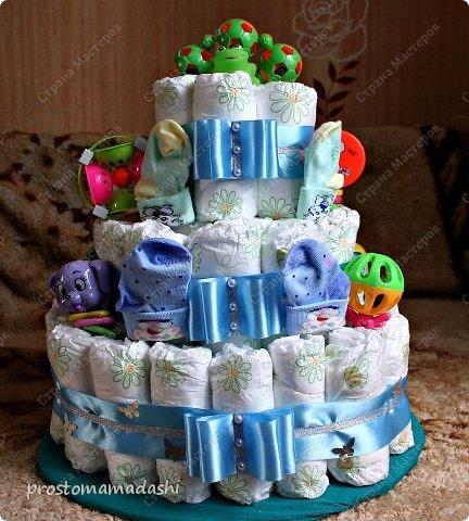 Мастер-класс День рождения Тортик из памперсов Ленты фото 1