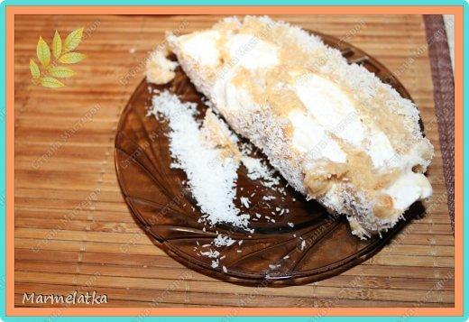 Холодный торт с зефиром( без выпечки) фото 17