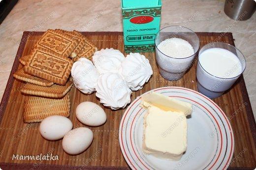 Холодный торт с зефиром( без выпечки) фото 2