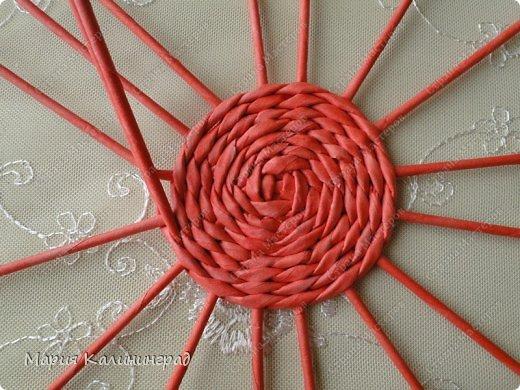 Мастер-класс Поделка изделие Плетение Мк круглого донышка Бумага газетная Трубочки бумажные фото 10