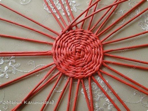 Мастер-класс Поделка изделие Плетение Мк круглого донышка Бумага газетная Трубочки бумажные фото 11