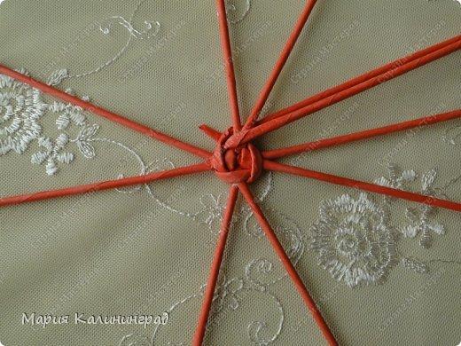 Мастер-класс Поделка изделие Плетение Мк круглого донышка Бумага газетная Трубочки бумажные фото 7