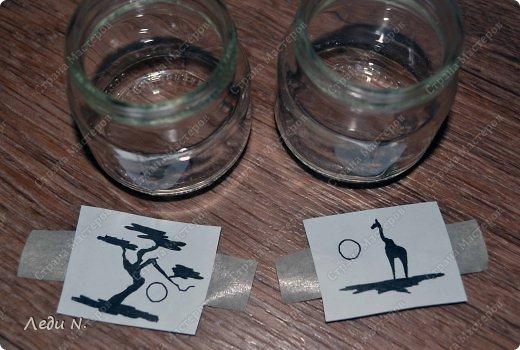 Декор предметов Мастер-класс Насыпание Роспись Подсвечники-насыпушки Африка знойная  Краска Соль фото 4