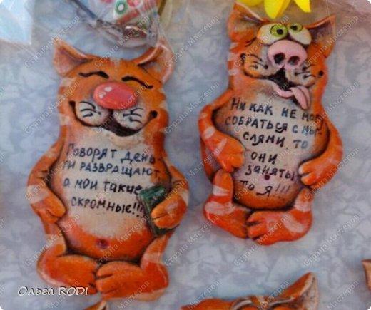 Этих котиков делала к одной из летних выставок. Большое спасибо за идею Надежде https://stranamasterov.ru/user/101797 , ну очень мне её забавные зверятки нравяться!!!!)) Показываю, то что успела сфотографировать. Их было гораздо больше.... фото 2