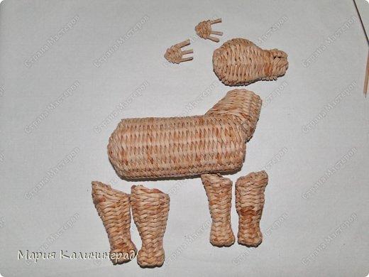 Мастер-класс Новый год Плетение Мк плетёной лошадки Бумага газетная Трубочки бумажные фото 40