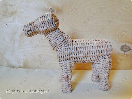 Мастер-класс Новый год Плетение Мк плетёной лошадки Бумага газетная Трубочки бумажные фото 42