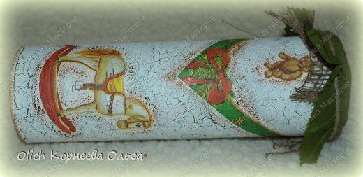 Декор предметов Мастер-класс Новый год Декупаж Кракелюр Банка к Новому году Клей Краска Салфетки фото 1