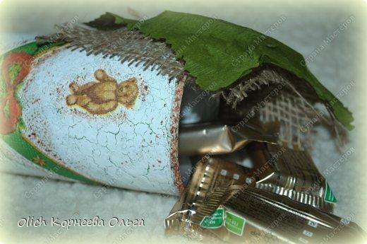 Декор предметов Мастер-класс Новый год Декупаж Кракелюр Банка к Новому году Клей Краска Салфетки фото 3