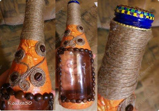 Доброго времени суток, дорогие мои, сматерилась вот такая бутылочка для настойки из облепихи - отсюда и цвет))))) фото 6