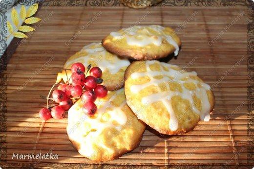 Тыквенное печенье с глазурью