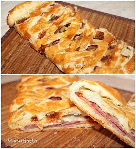 Простое и очень вкусное! я бы назвала это закрытая пицца. В начинку пускаем все что не доели (из мясного), колбаса, ветчина, мяско... фото 1