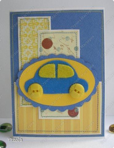 """Доброго времени суток! Люблю фетр за мягкость, теплоту, разнообразие цветов, податливость, универсальность. Из него можно не только игрушки шить, но использовать для открыток! Эту открытку-малютку делала по обмену на курсах СМ """"Уникальные открытки"""" для Анюты (Аняня). Основа - акварельная бумага, подложка - скрапбумага +пастель, лист клевера - фетр, обшит бисером. Размер 10х10 см. фото 6"""