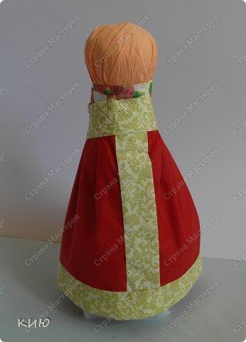 Куклы Мастер-класс Моделирование конструирование МК Аленка- кукпа из бумажных салфеток на бутылке  Салфетки фото 24