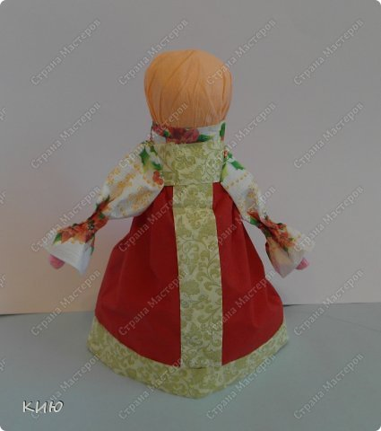 Куклы Мастер-класс Моделирование конструирование МК Аленка- кукпа из бумажных салфеток на бутылке  Салфетки фото 34