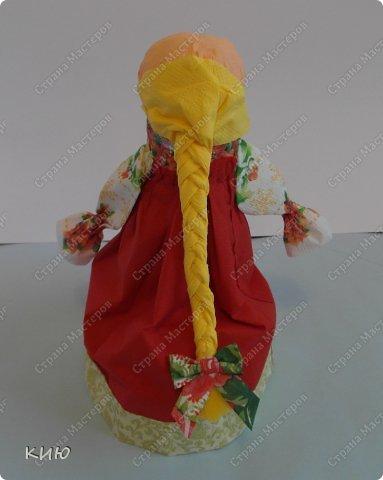 Куклы Мастер-класс Моделирование конструирование МК Аленка- кукпа из бумажных салфеток на бутылке  Салфетки фото 42
