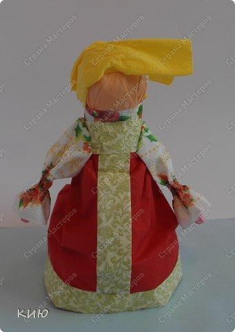 Куклы Мастер-класс Моделирование конструирование МК Аленка- кукпа из бумажных салфеток на бутылке  Салфетки фото 44