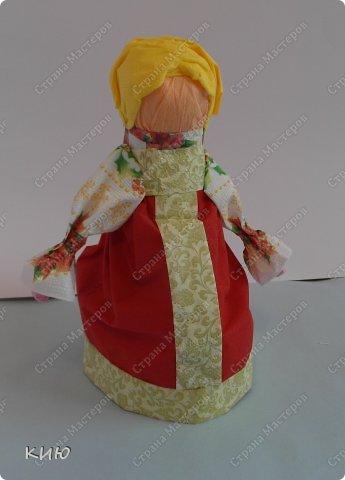 Куклы Мастер-класс Моделирование конструирование МК Аленка- кукпа из бумажных салфеток на бутылке  Салфетки фото 45