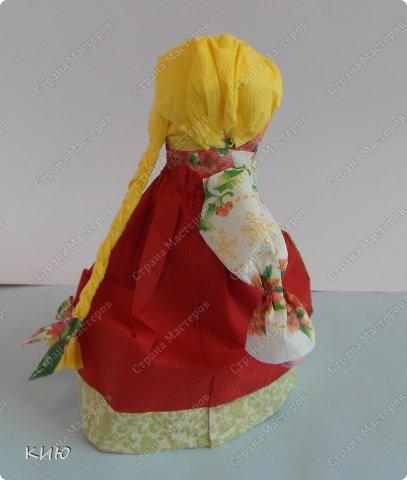 Куклы Мастер-класс Моделирование конструирование МК Аленка- кукпа из бумажных салфеток на бутылке  Салфетки фото 46