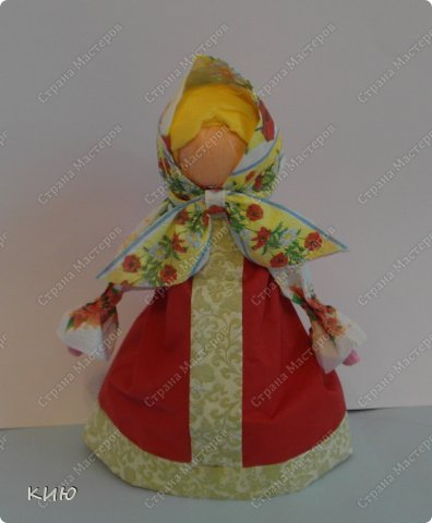 Куклы Мастер-класс Моделирование конструирование МК Аленка- кукпа из бумажных салфеток на бутылке  Салфетки фото 51