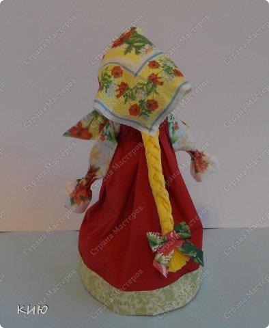 Куклы Мастер-класс Моделирование конструирование МК Аленка- кукпа из бумажных салфеток на бутылке  Салфетки фото 52
