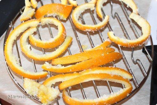 Получаются шоколадные апельсиновые цукаты. Очень вкусно  с  чаем!! фото 9