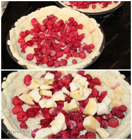 Ароматный песочный пирог с нежной сметанно-ягодно-фруктовой начинкой!!!Начинка может быть абсолютна любая, и вкус будет другой. Можно взять киви и банан, клубнику, вишню, смородину, ананасы, персики, да что угодно... фото 13