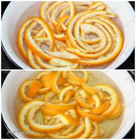 Получаются шоколадные апельсиновые цукаты. Очень вкусно  с  чаем!! фото 5