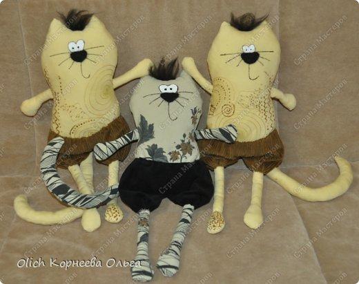 Здравствуйте. Сшила очередную партию котов. Если быть точной, то котов пять и одна большая спящая собака.  Мои предыдущие котики https://stranamasterov.ru/node/642015. фото 8