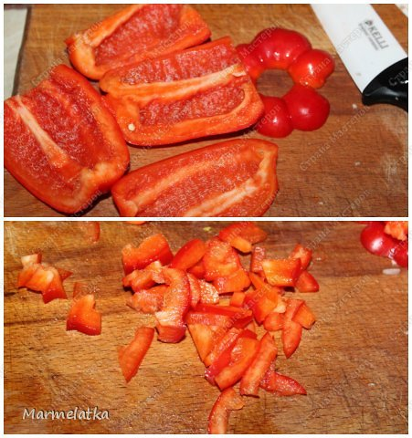 Добрый вечер! Мне так хотелось кушать после работы, что я первым же делом начала готовить салатик, тем более остались грибочки после прошлого салата, не пропадать же. Быстро получилось и очень вкусно!! Рекомендую фото 7
