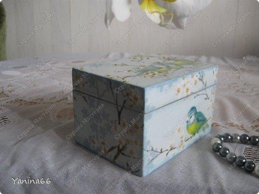 """В продолжение вчерашнего блога еще небольшая порция шкатулок. Шкатулка """" В цветущем саду""""  фото 1"""