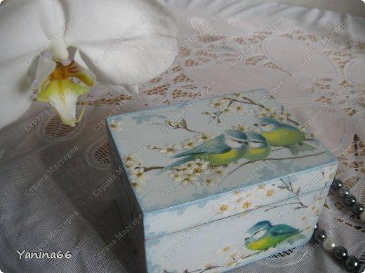 """В продолжение вчерашнего блога еще небольшая порция шкатулок. Шкатулка """" В цветущем саду""""  фото 2"""