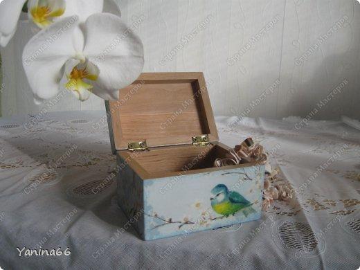 """В продолжение вчерашнего блога еще небольшая порция шкатулок. Шкатулка """" В цветущем саду""""  фото 3"""