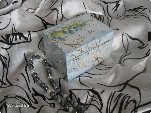 """В продолжение вчерашнего блога еще небольшая порция шкатулок. Шкатулка """" В цветущем саду""""  фото 5"""